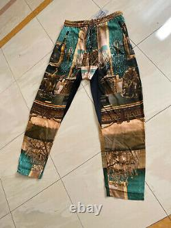 Vivienne Westwood MAN Squiggle Trousers Green/Gold Wallace Palace Print size 50