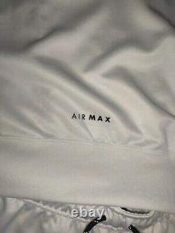 White Nike Air Max Jogger Track Pants & Hoodie Mens Size XL Unisex Black & White